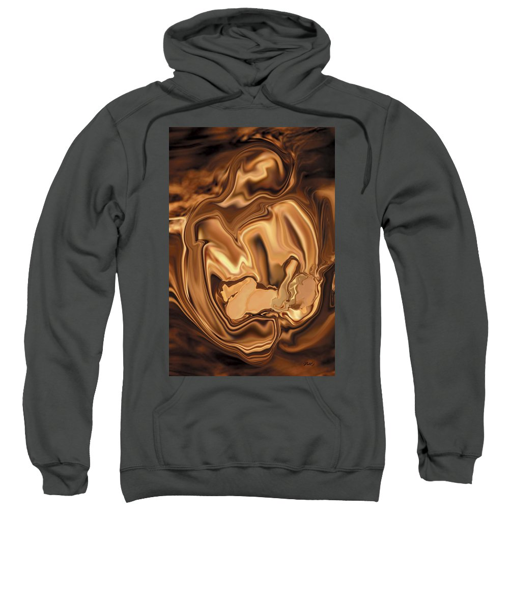 Abstract Sweatshirt featuring the digital art Safe-in-her-arms by Rabi Khan