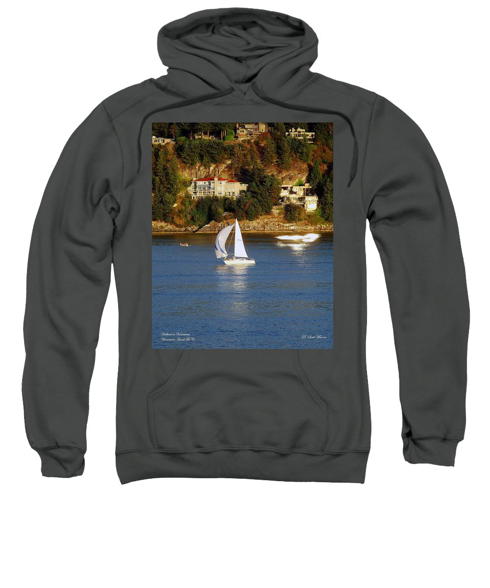 Sailboat Sweatshirt featuring the photograph Sailboat In Vancouver by Robert Meanor