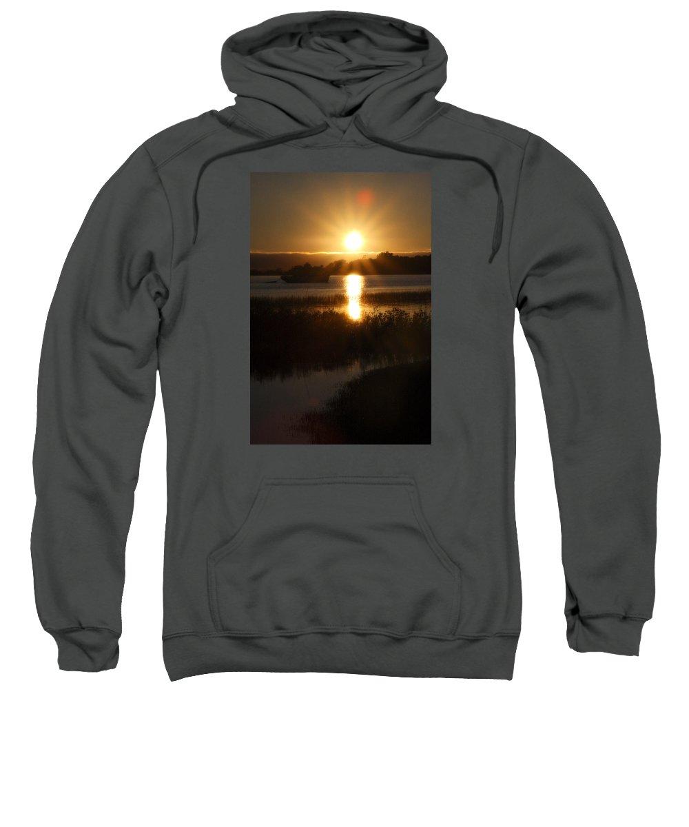 Sunset Sweatshirt featuring the photograph Sailboat Sunset by CottonWood