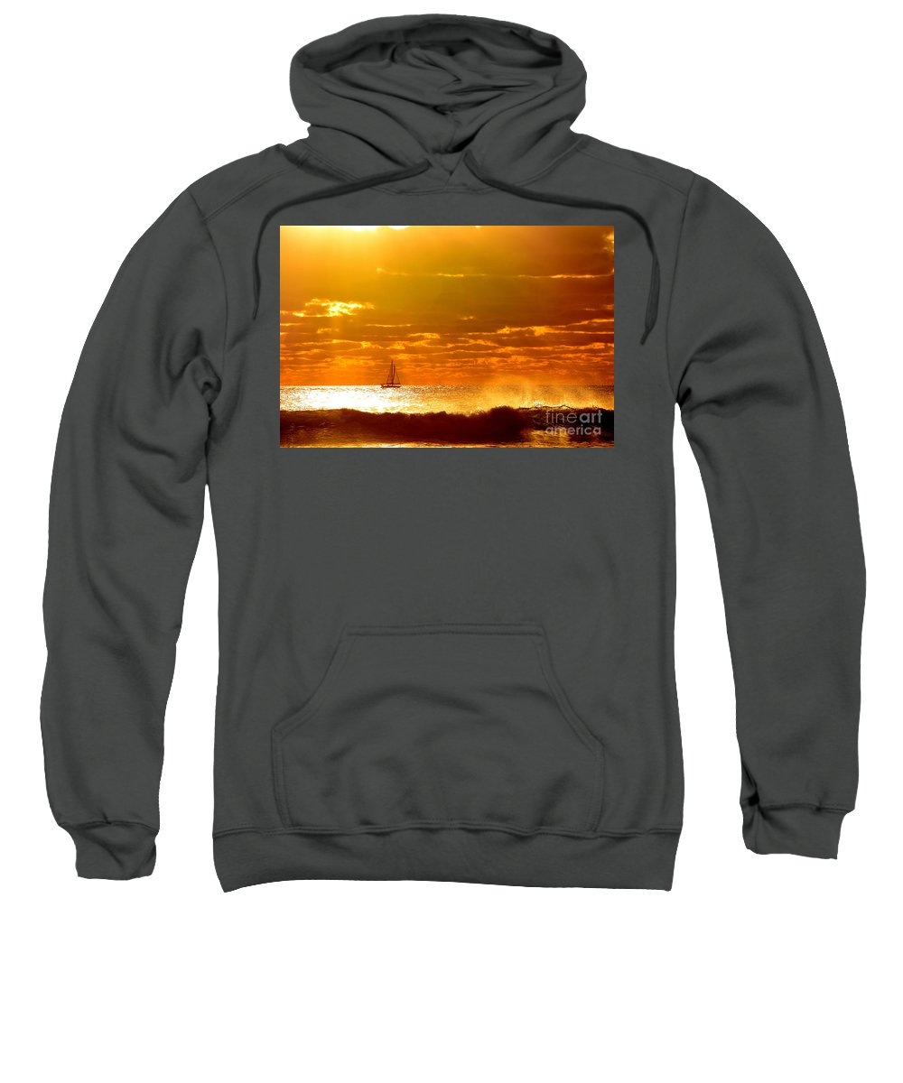 Sailing Sweatshirt featuring the photograph Sailing by Dennis Wat