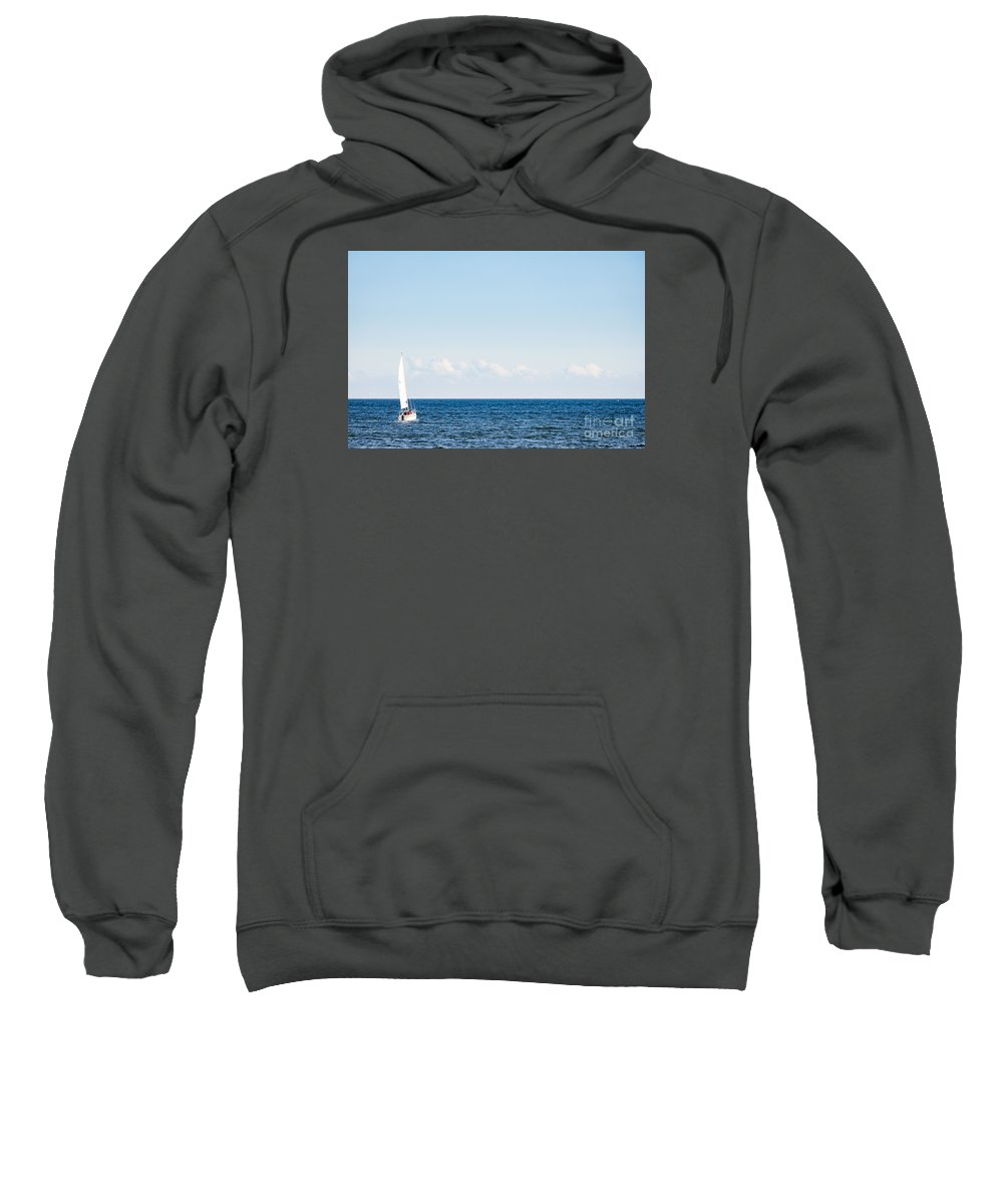 Baltic Sea Sweatshirt featuring the photograph Sailing by Lasse Ansaharju