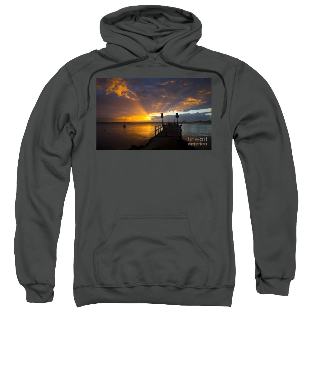 Sunrise Sweatshirt featuring the photograph Salamander Bay sunrise by Sheila Smart Fine Art Photography