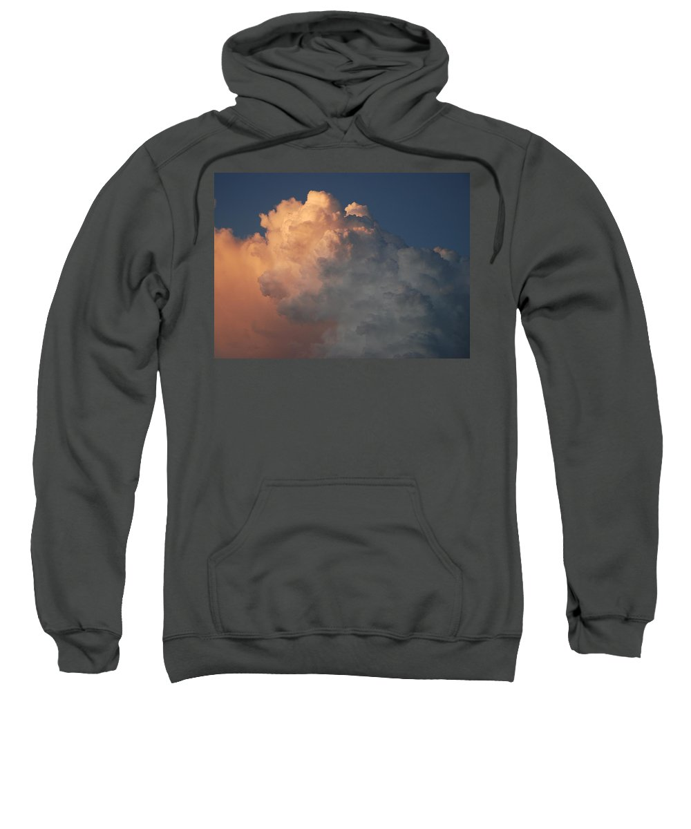 Clouds Sweatshirt featuring the photograph Salmon Sky by Rob Hans
