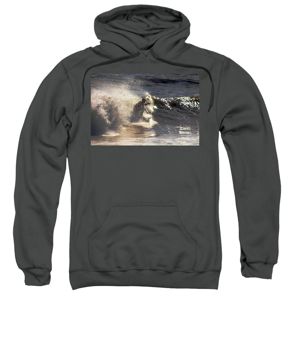 Clay Sweatshirt featuring the photograph Salt Spray Surfing by Clayton Bruster