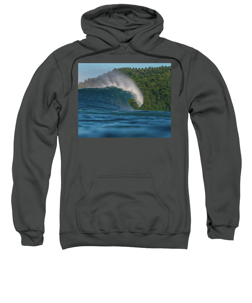 Waves Sweatshirt featuring the photograph Samoa Power by Bryan Garrison