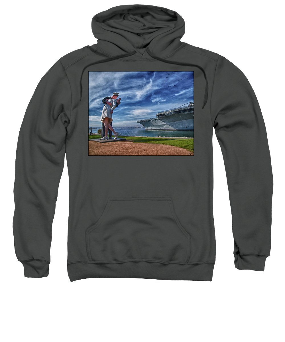 Sailor Sweatshirt featuring the photograph San Diego Sailor by Chris Lord