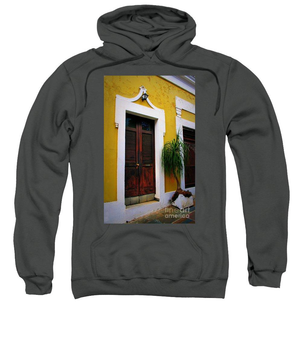 Door Sweatshirt featuring the photograph San Juan Doors by Perry Webster