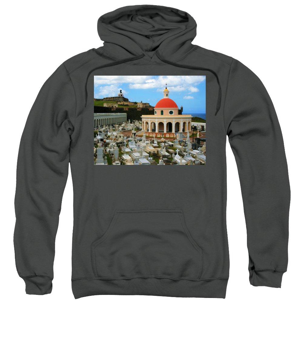 San Juan Sweatshirt featuring the photograph San Juan Graveyard by Perry Webster