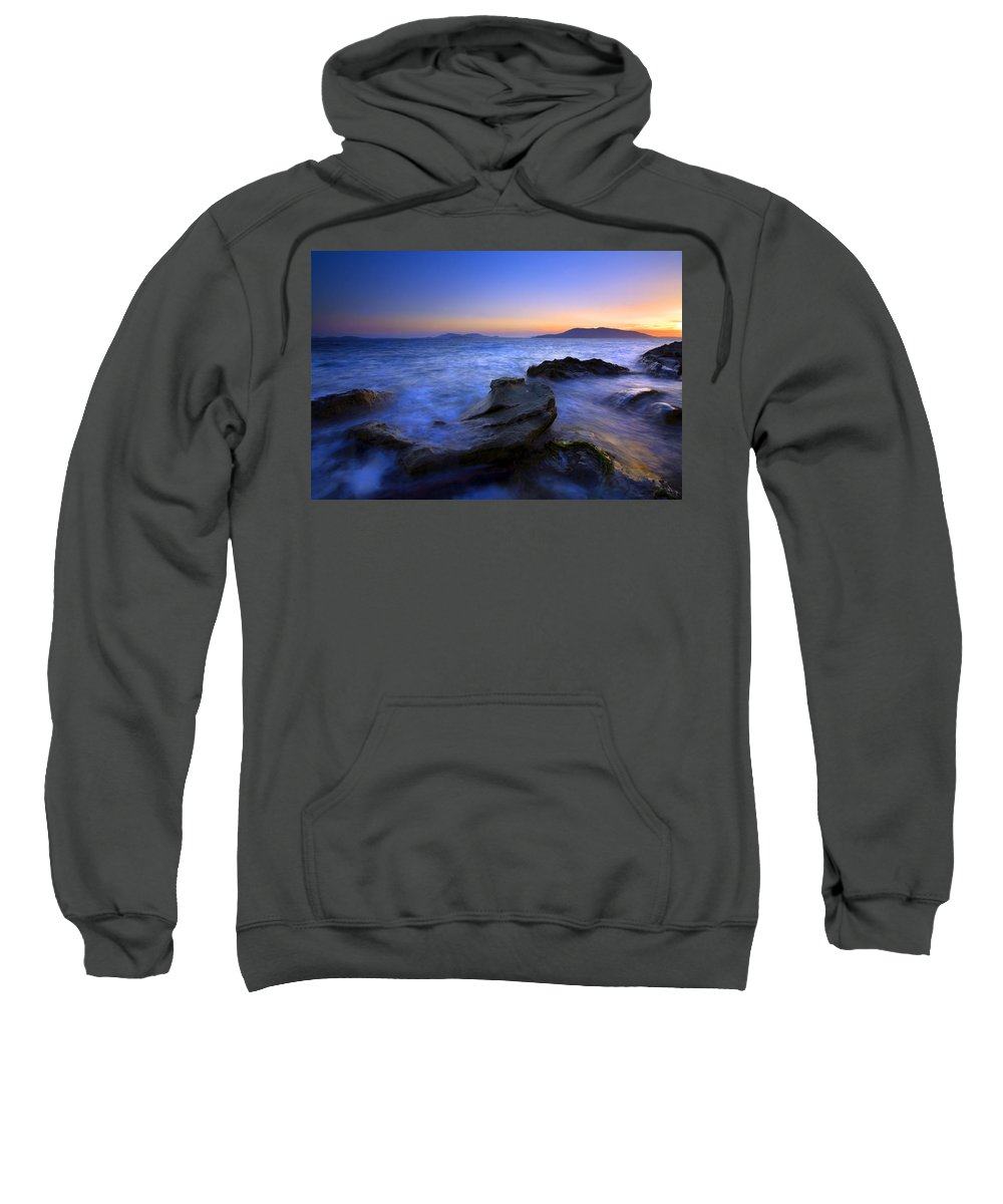 Sunset Sweatshirt featuring the photograph San Juan Sunset by Mike Dawson