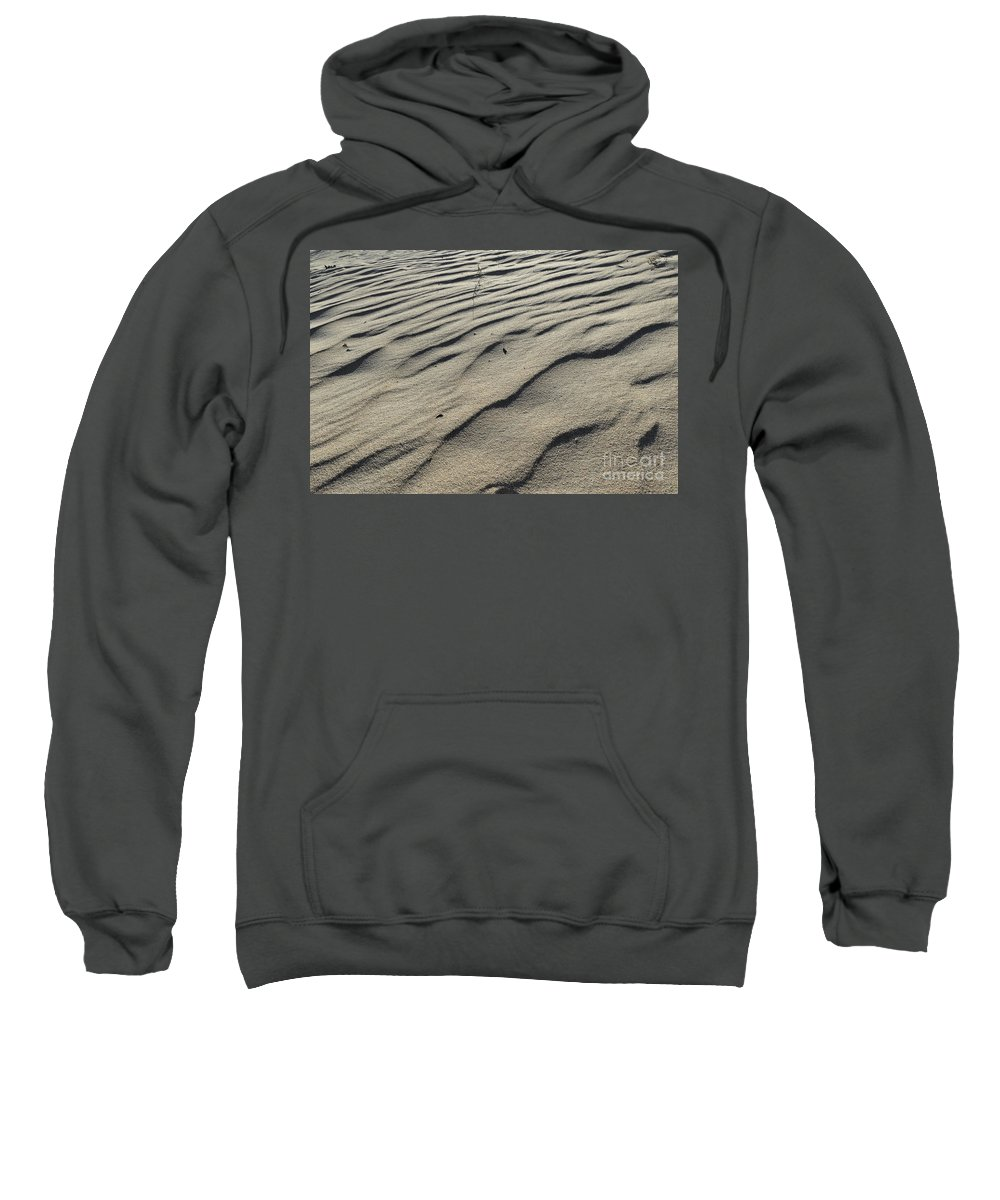 Minimal Sweatshirt featuring the photograph Sand Marks by Angelo DeVal