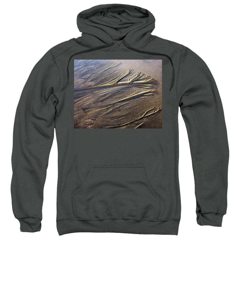 Sand Sweatshirt featuring the photograph Sand Patterns by Sheryl R Smith