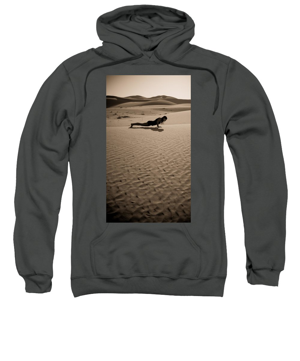 Yoga Sweatshirt featuring the photograph Sand Plank by Scott Sawyer