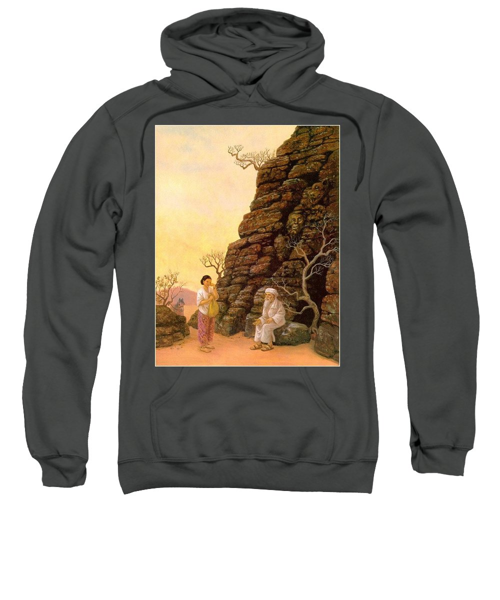 Temple Sweatshirt featuring the digital art Sandersonruth-gulnara-sj Ruth Sanderson by Eloisa Mannion