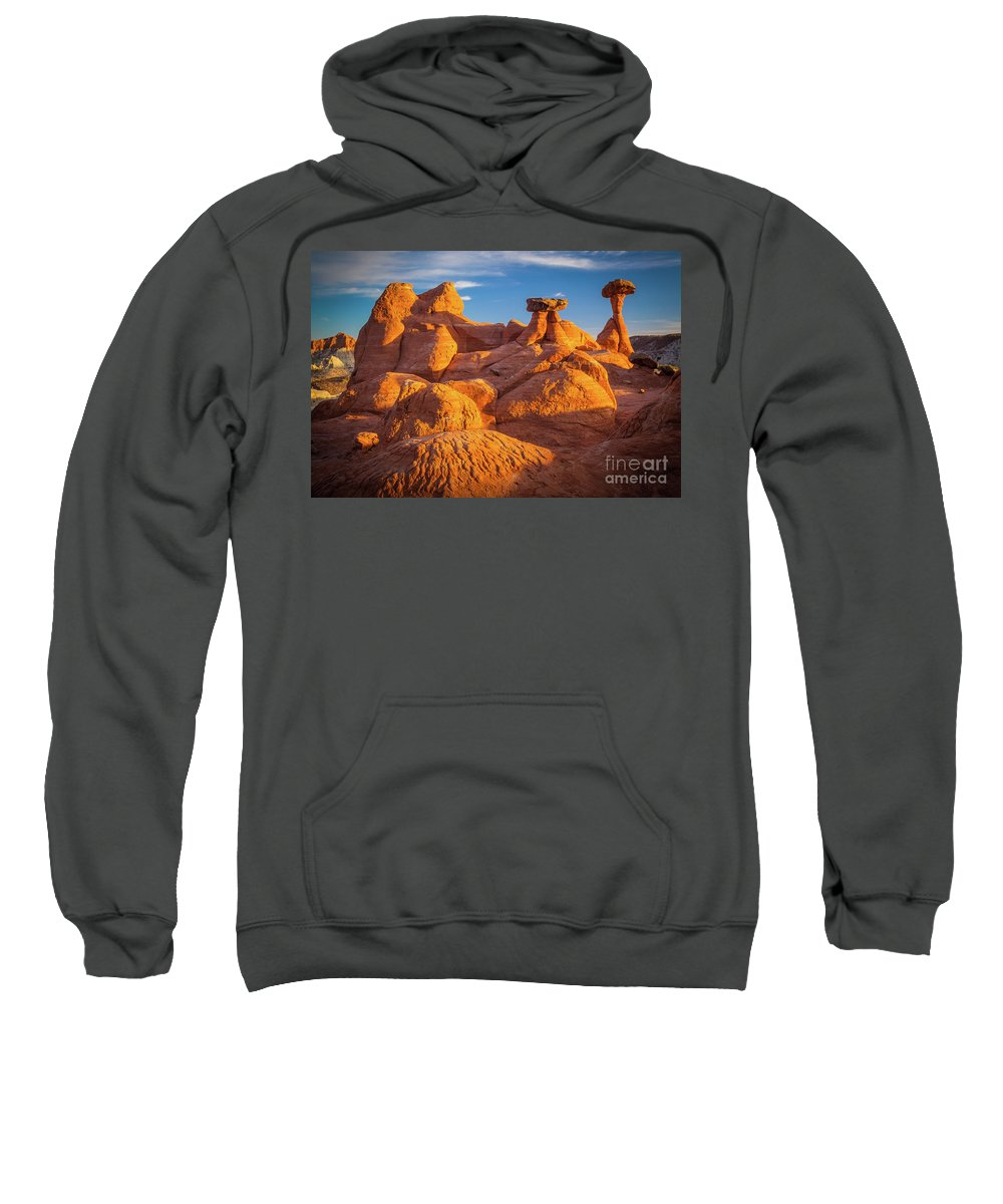 America Sweatshirt featuring the photograph Sandstone Castle by Inge Johnsson