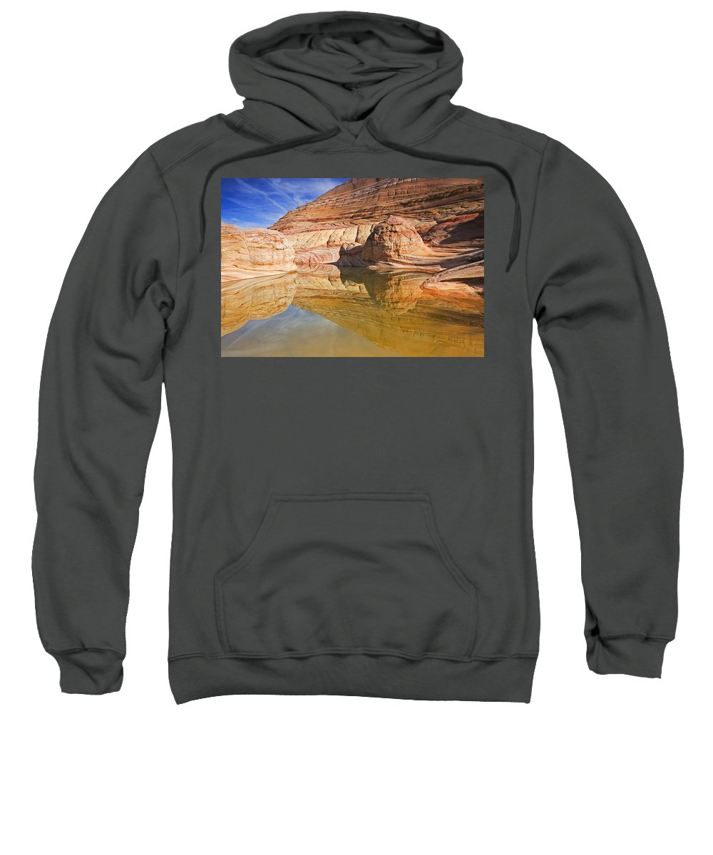 Pool Sweatshirt featuring the photograph Sandstone Illusions by Mike Dawson