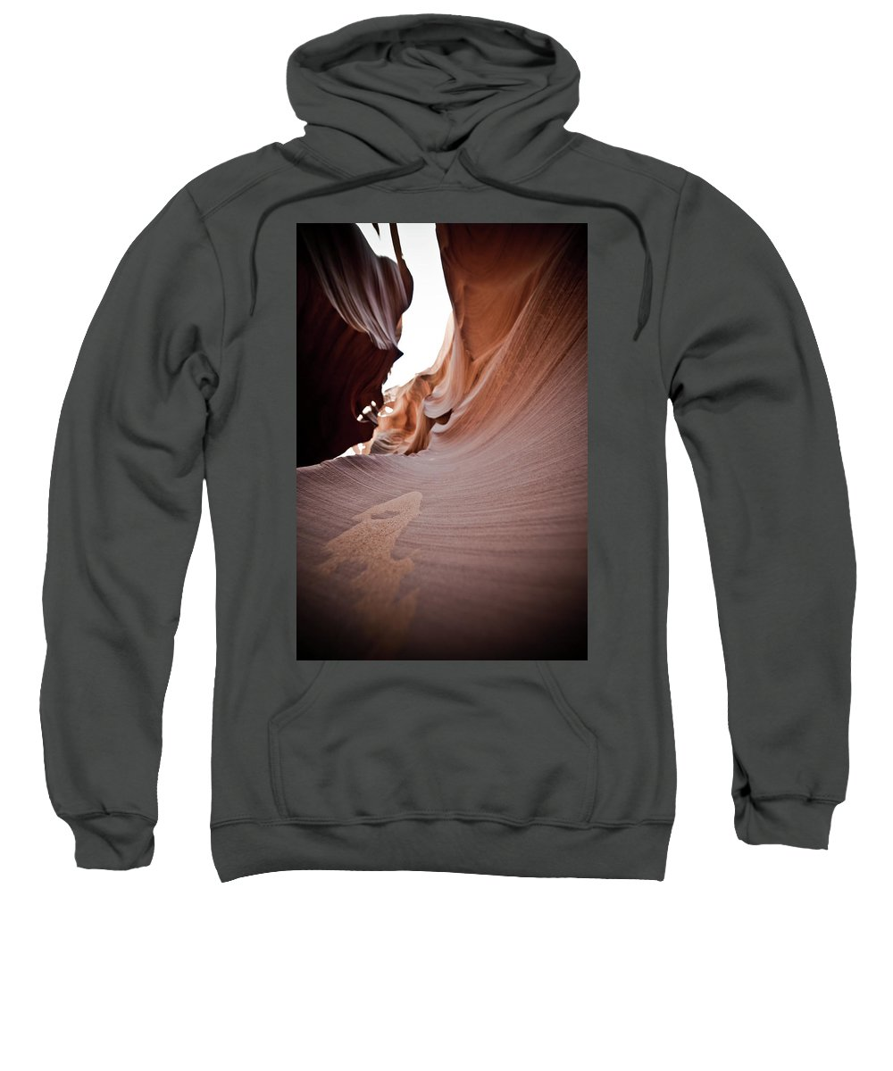 Slot Canyon Sweatshirt featuring the photograph Sandy Canyon by Scott Sawyer