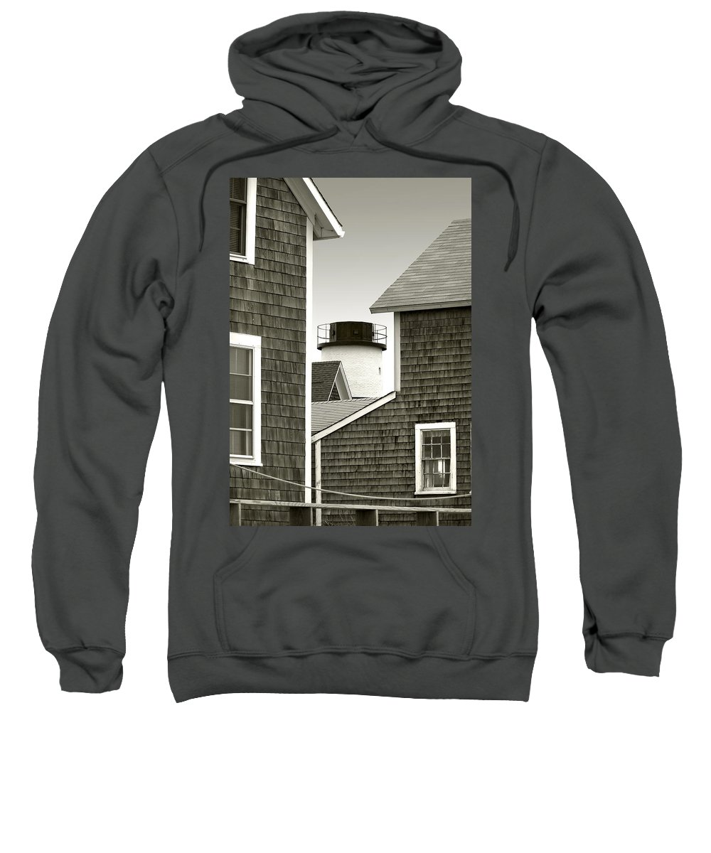 Sandy Neck Sweatshirt featuring the photograph Sandy Neck Lighthouse by Charles Harden