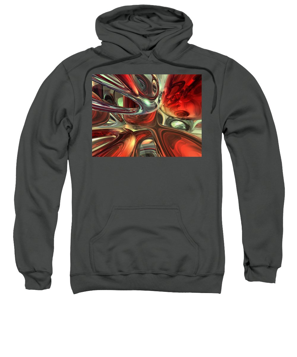 3d Sweatshirt featuring the digital art Sanguine Abstract by Alexander Butler