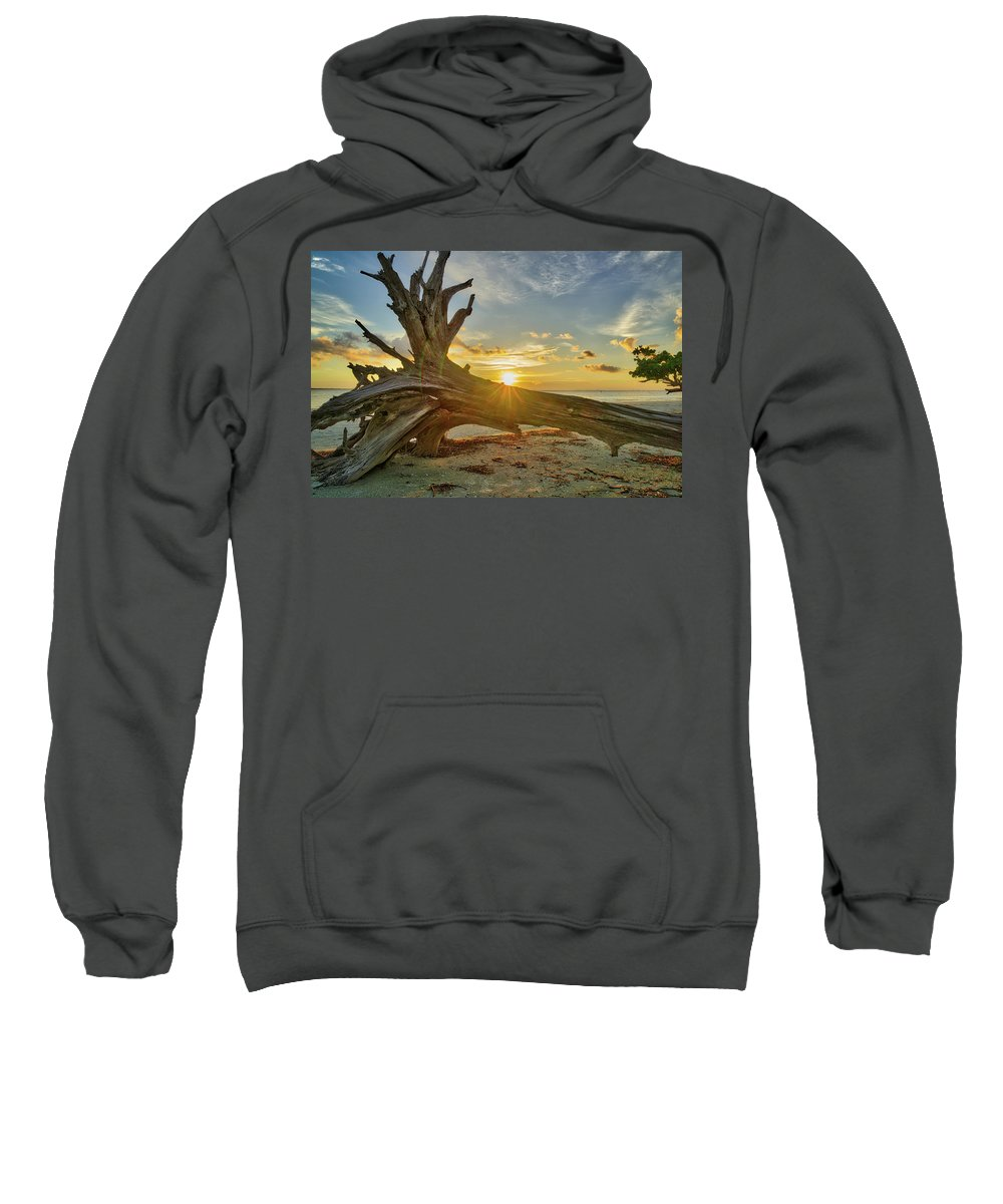 Sanibel Island Sweatshirt featuring the photograph Sanibel Sunrise by Joey Waves