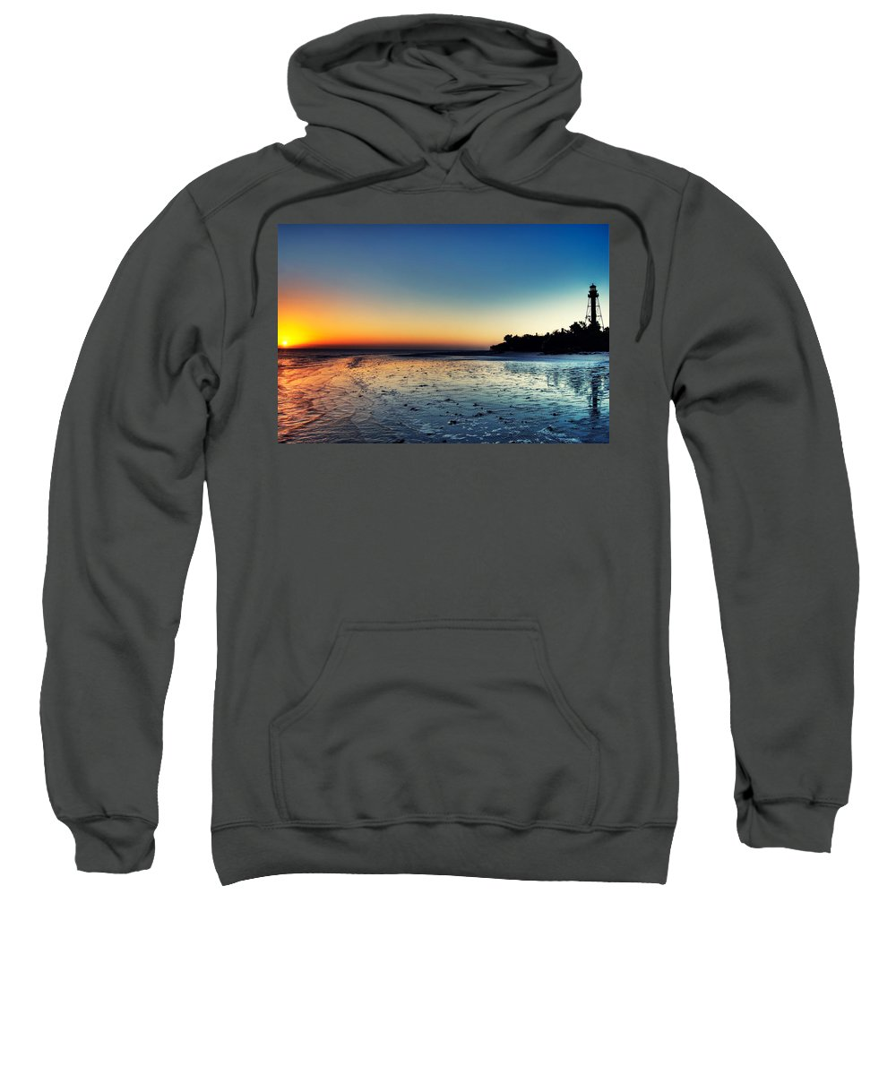 Lighthouse Sweatshirt featuring the photograph Sanibel Sunrise by Rich Leighton