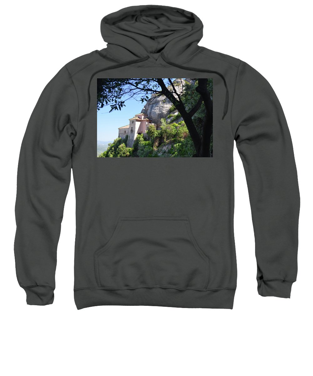 Mountain Sweatshirt featuring the photograph Santa Cova Monserratt Spain by Brian Fornear