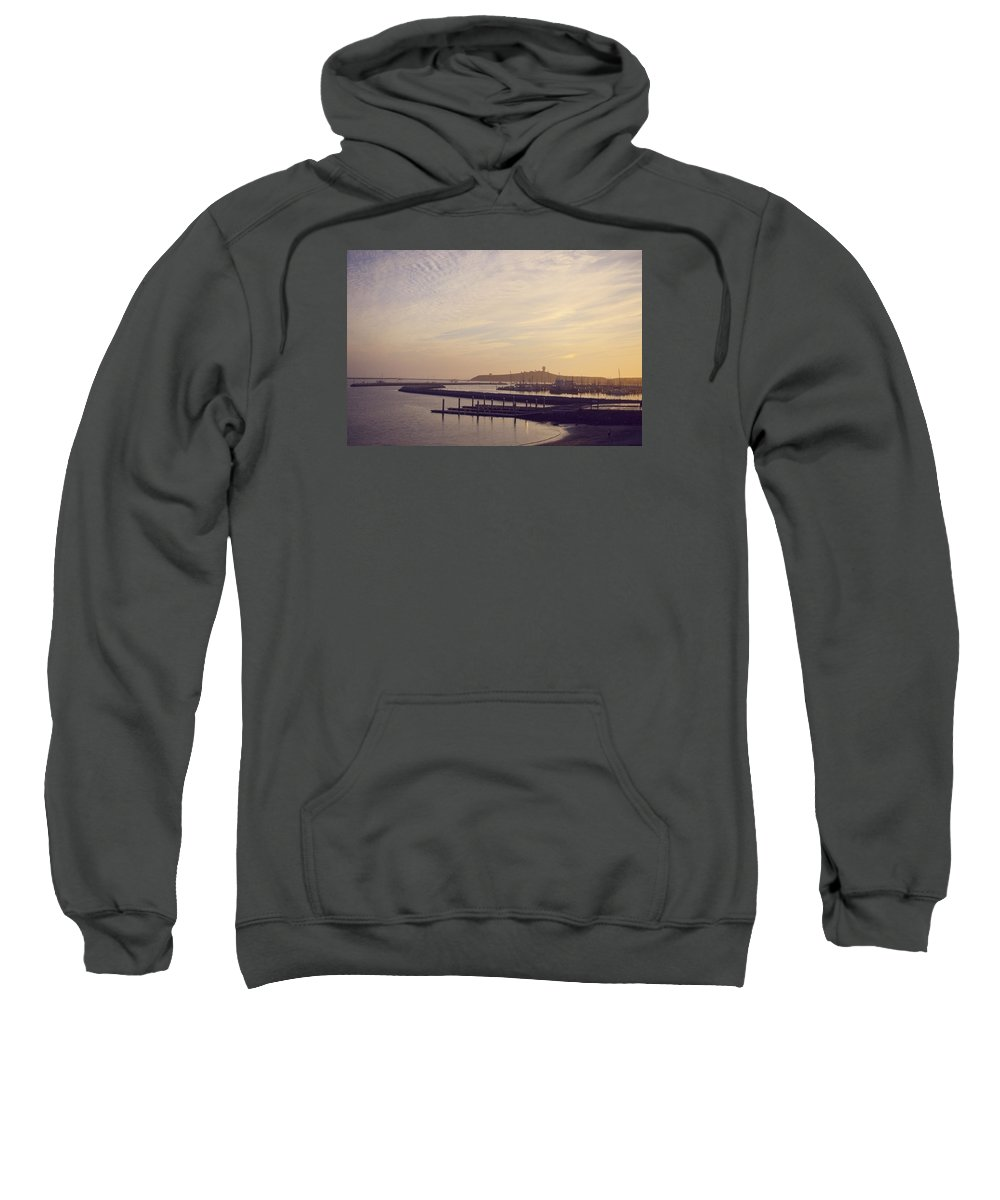 Sunset Sweatshirt featuring the photograph Santa Cruz At Sunset by Jared Giarrusso