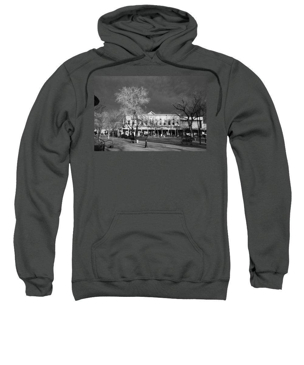 Santa Fe Sweatshirt featuring the photograph Santa Fe Town Square by Rob Hans