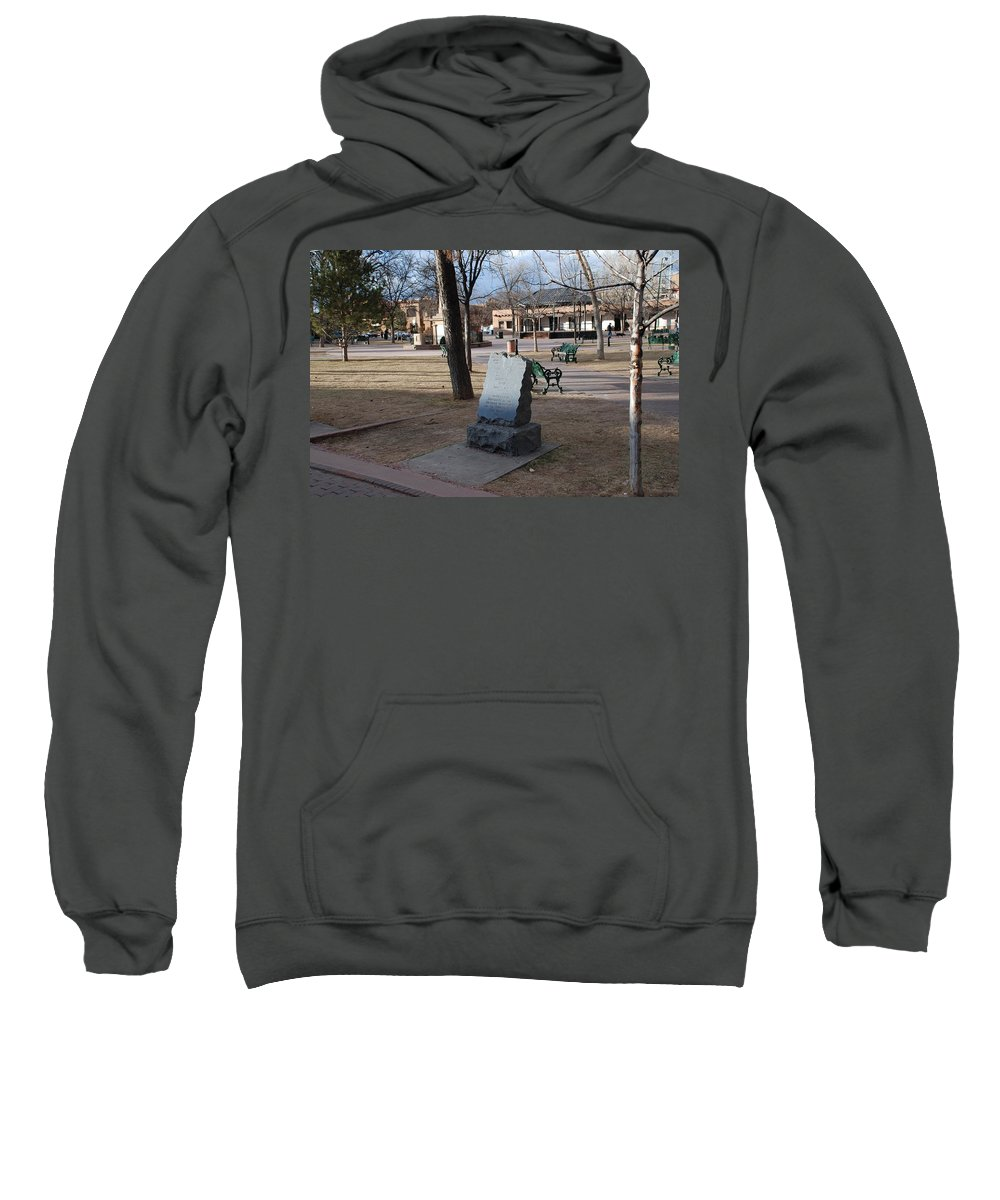 Parks Sweatshirt featuring the photograph Santa Fe Trail Marker by Rob Hans