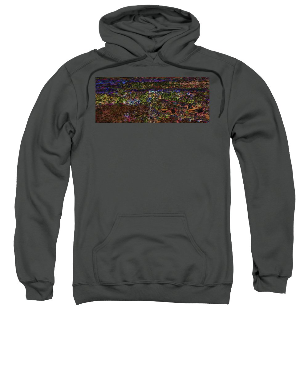 Ranch Sweatshirt featuring the painting Santa Rosa In Blacklight by Will Barger