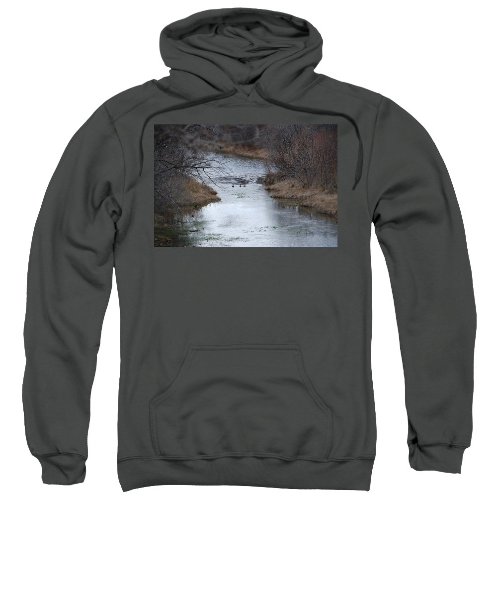Birds Sweatshirt featuring the photograph Sante Fe River by Rob Hans
