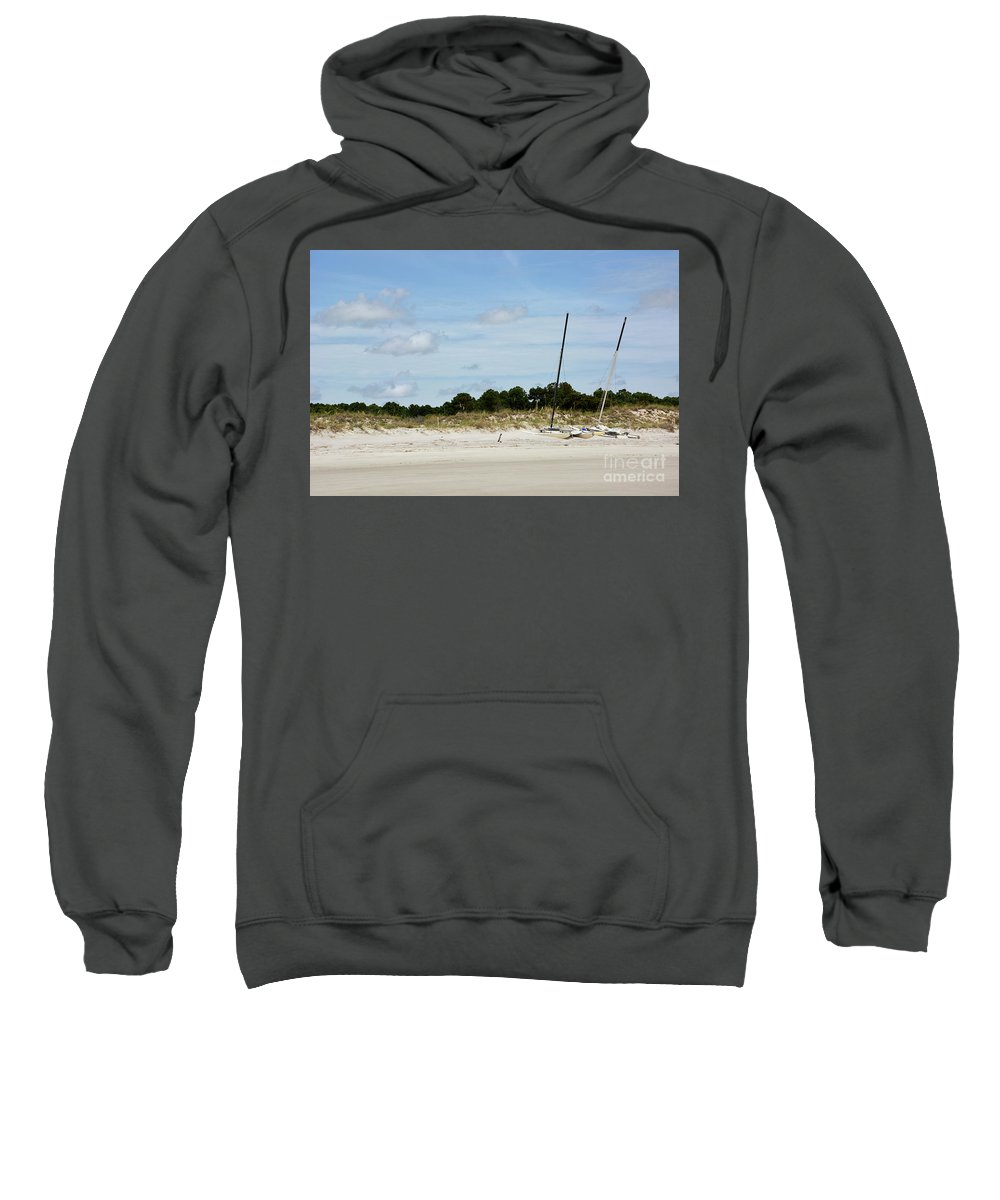 Boats Sweatshirt featuring the photograph Sapelo Island Boats by Katherine W Morse