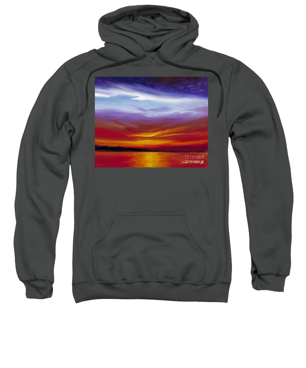 Skyscape Sweatshirt featuring the painting Sarasota Bay I by James Christopher Hill