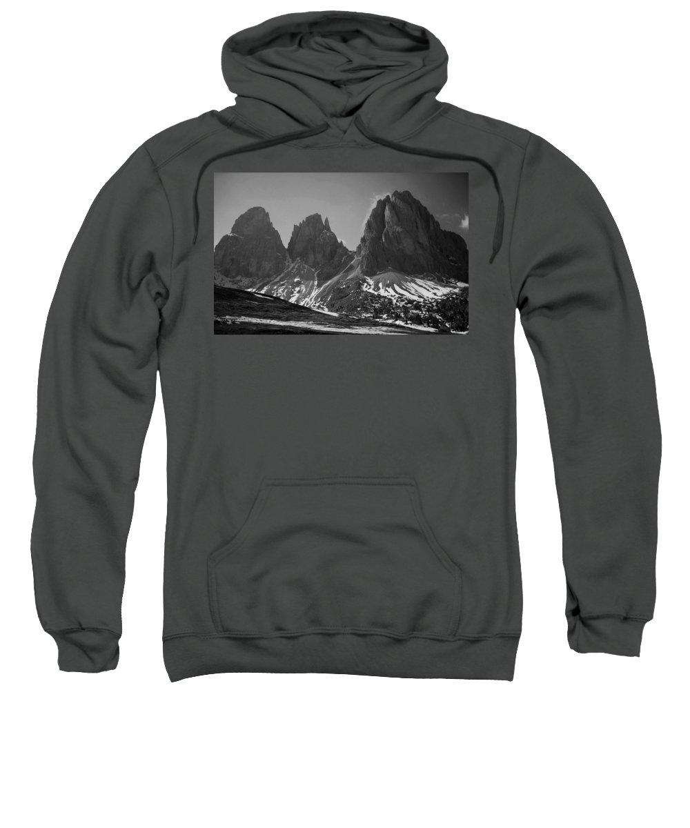 Europe Sweatshirt featuring the photograph Sasso Lungo by Juergen Weiss