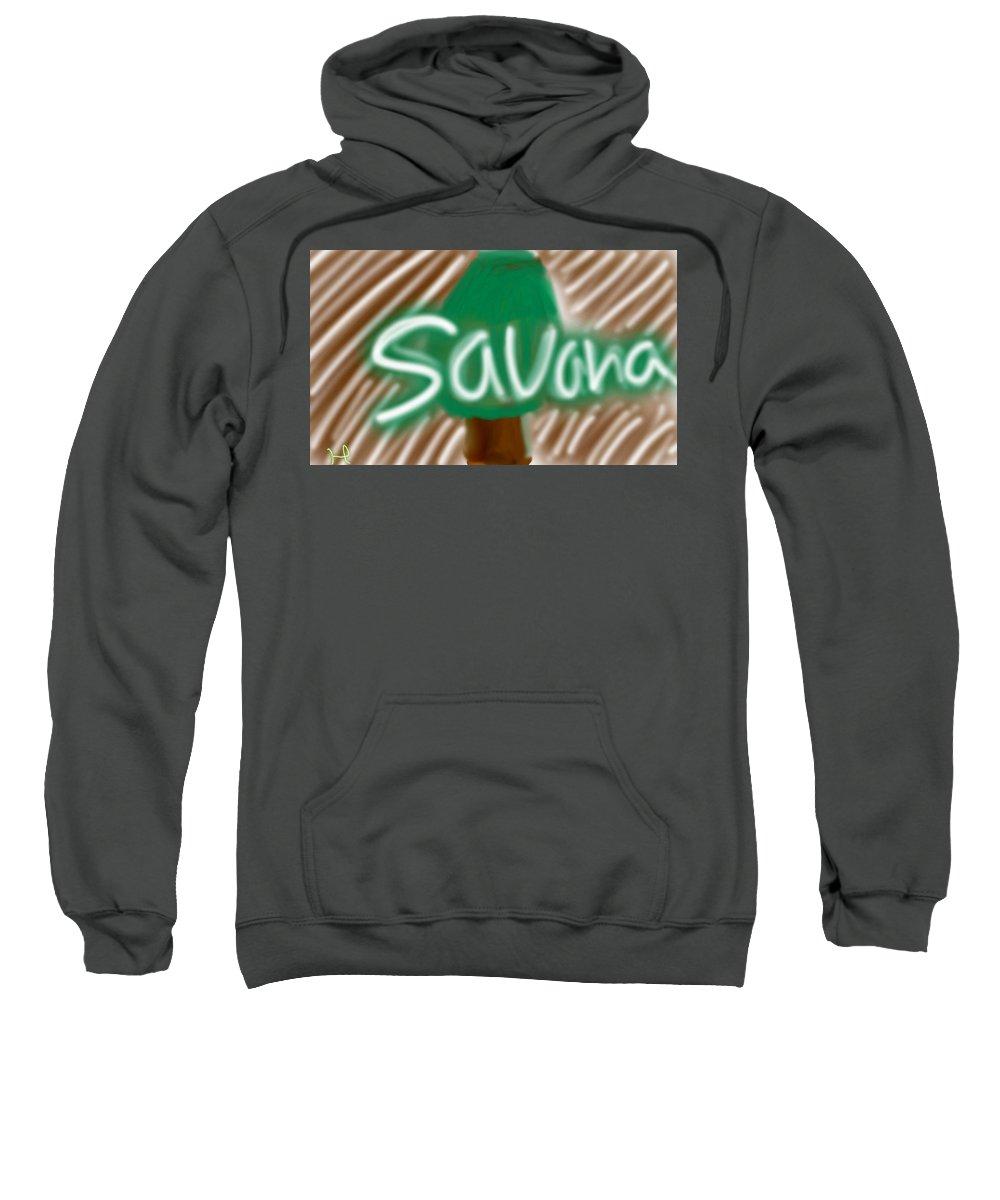 Wood Sweatshirt featuring the digital art Savana by Hager Abdelrahim