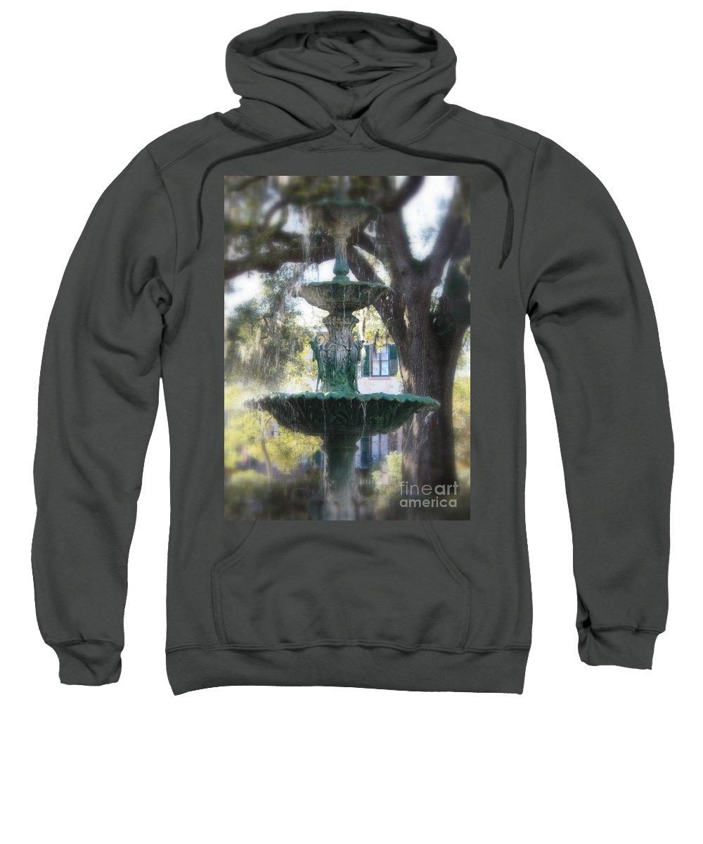 Savannah Sweatshirt featuring the photograph Savannah Green by Carol Groenen