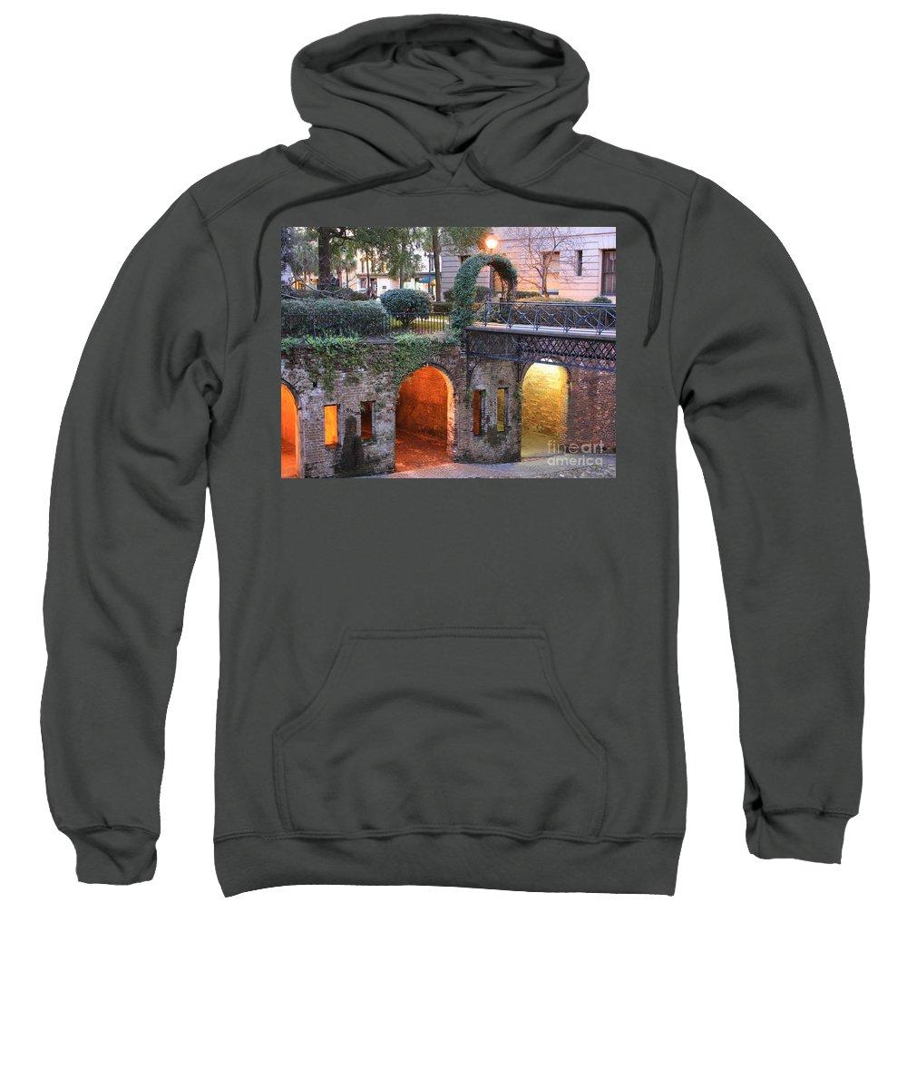 Savannah Sweatshirt featuring the photograph Savannah Lights by Carol Groenen