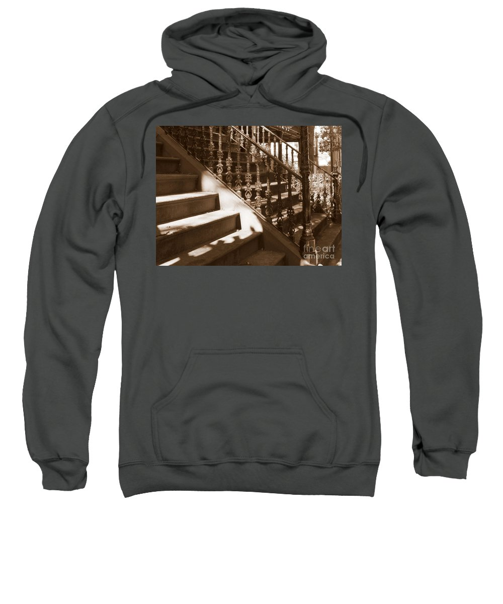 Sepia Sweatshirt featuring the photograph Savannah Sepia - Stairs by Carol Groenen