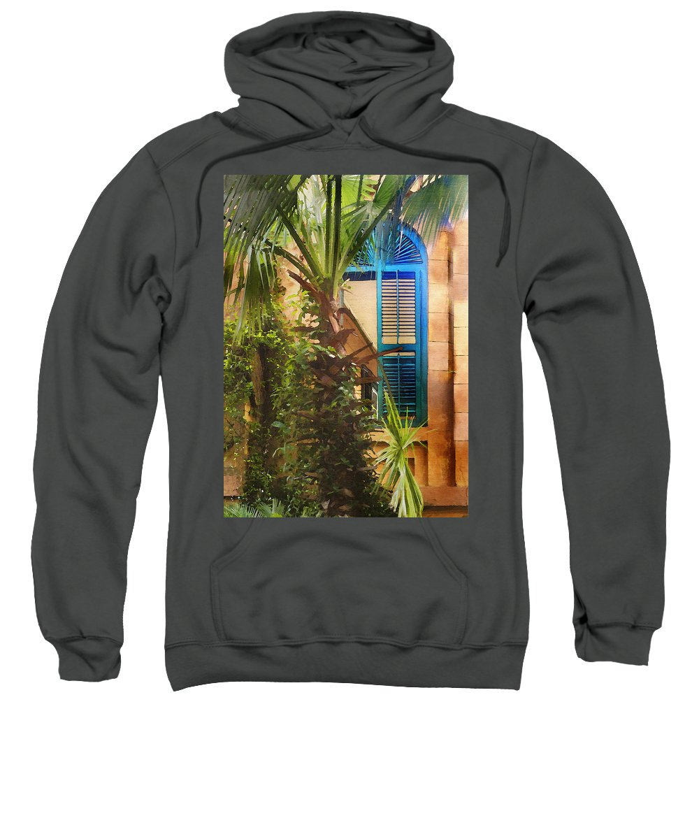 Architecture Sweatshirt featuring the photograph Savannah Window by Sharon Foster