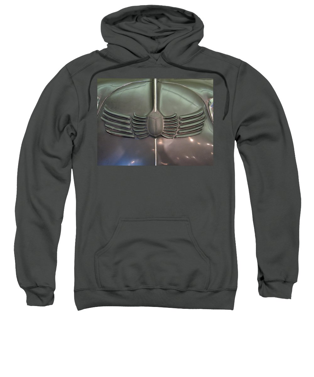 Stout Sweatshirt featuring the photograph Scarab Hood by Kelly Mezzapelle