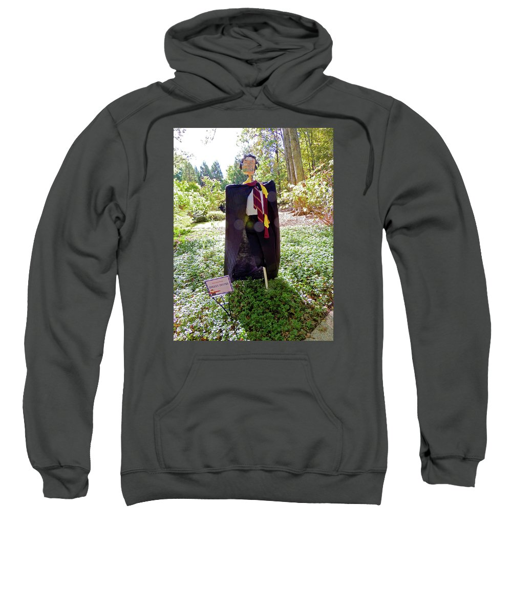 Photographic Print Sweatshirt featuring the photograph Scarry Potter Scarecrow At Cheekwood Botanical Gardens by Marian Bell