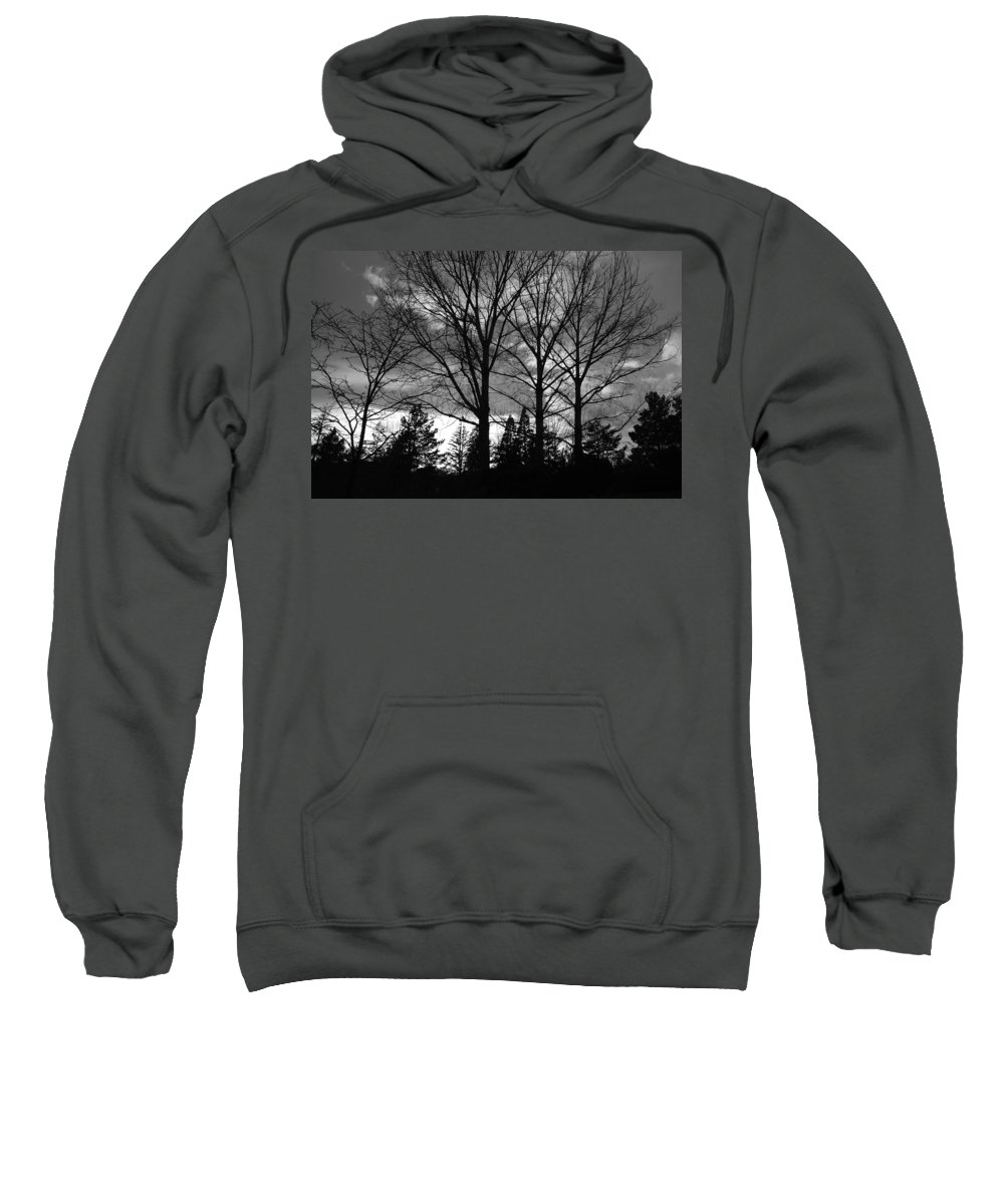 Black And White Sweatshirt featuring the photograph Scenic State Capital by Rob Hans
