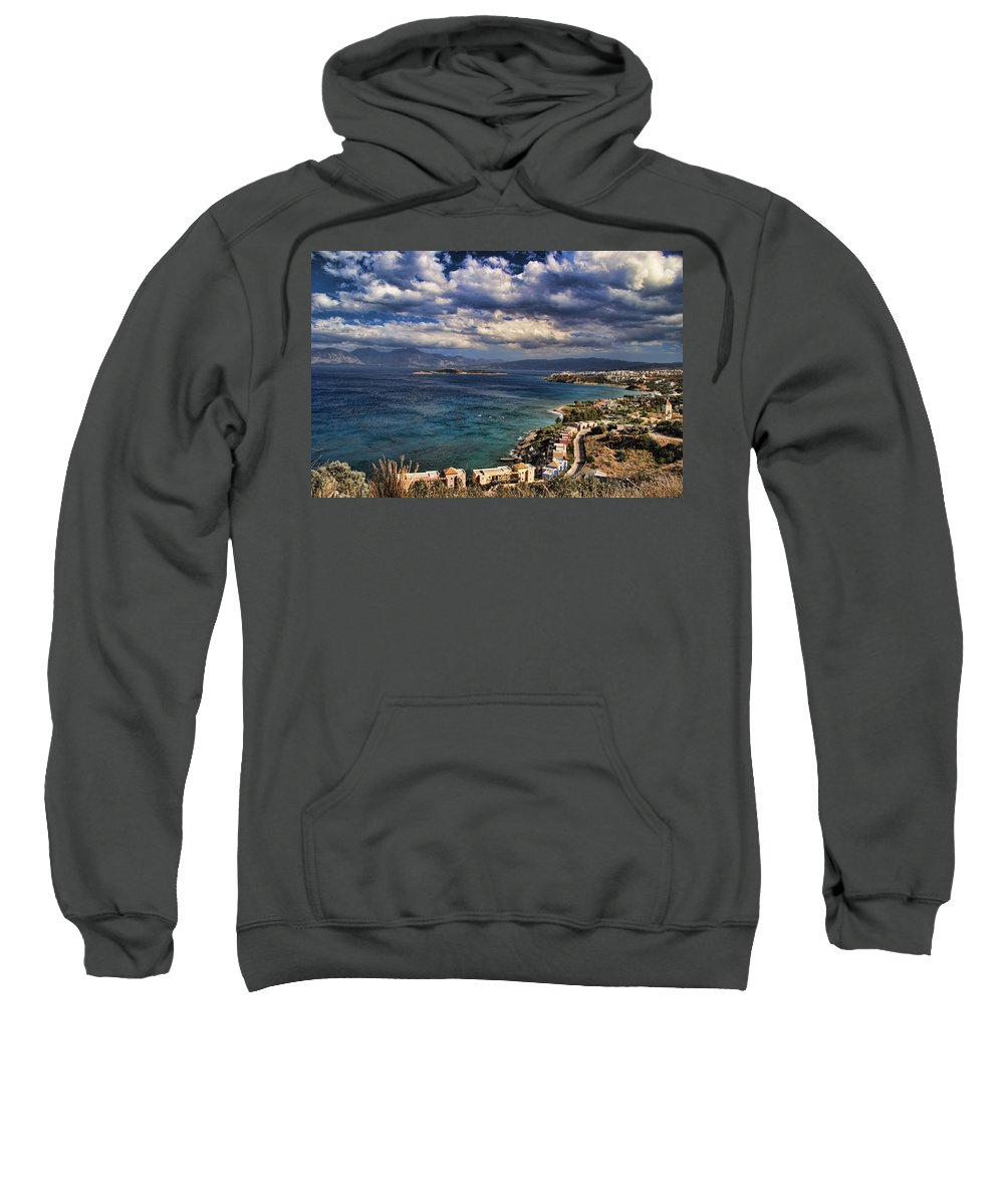 Crete Sweatshirt featuring the photograph Scenic View Of Eastern Crete by David Smith