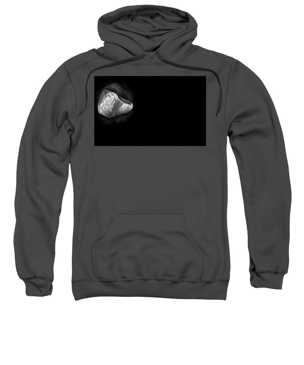 Schein Sweatshirt featuring the digital art Schein by Bert Mailer