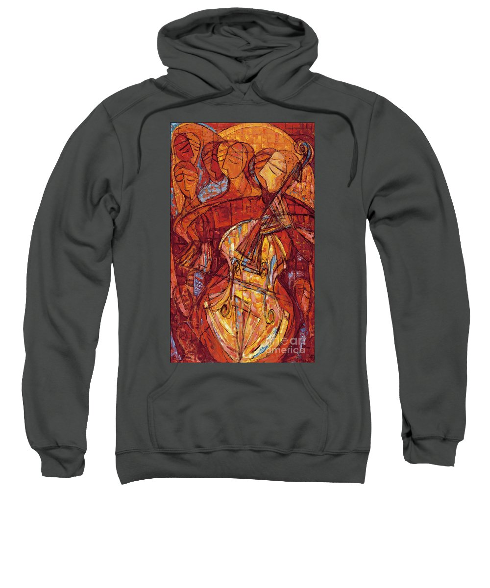 Cello Sweatshirt featuring the painting Scherzo by Emanuel Vardi