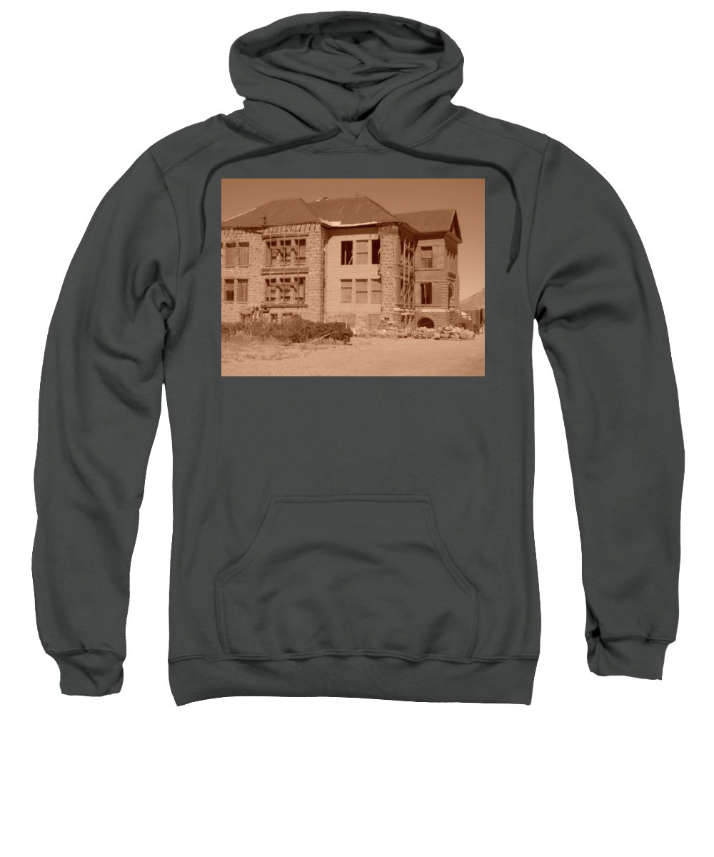 Goldfield High Sweatshirt featuring the photograph School Is Out by Marnie Patchett