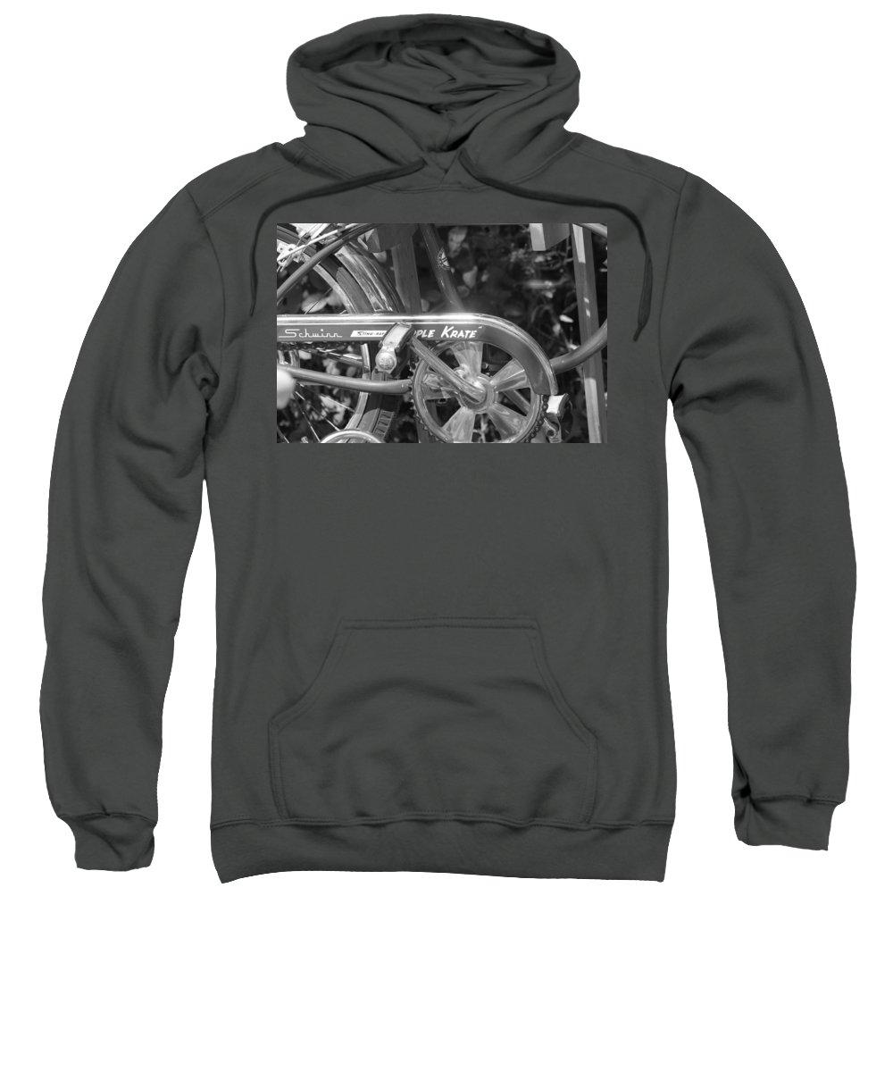 Schwinn Sweatshirt featuring the photograph Schwinn Apple Krate by Lauri Novak