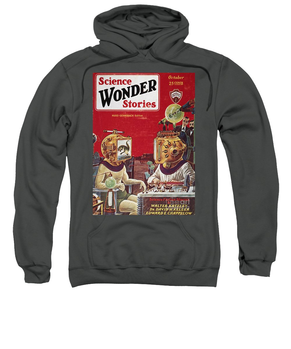 1929 Sweatshirt featuring the photograph Science Fiction Cover, 1929 by Granger