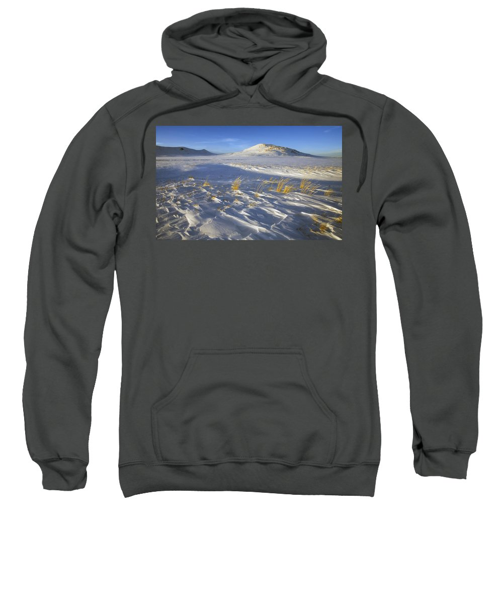 Winter Sweatshirt featuring the photograph Sculpted By The Wind by Mike Dawson