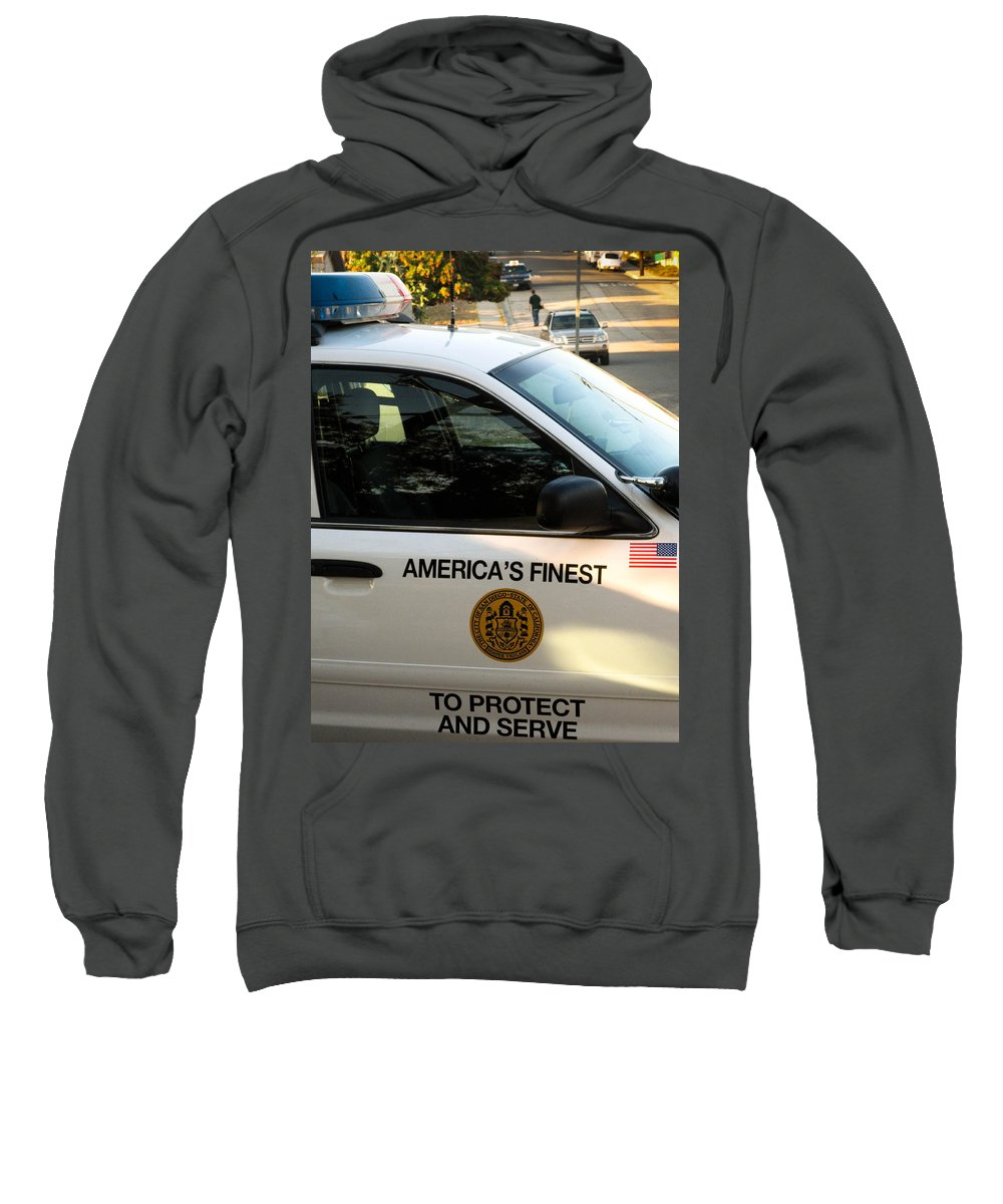San Diego Sweatshirt featuring the photograph Sdpd Shelltown San Diego by Sharon French