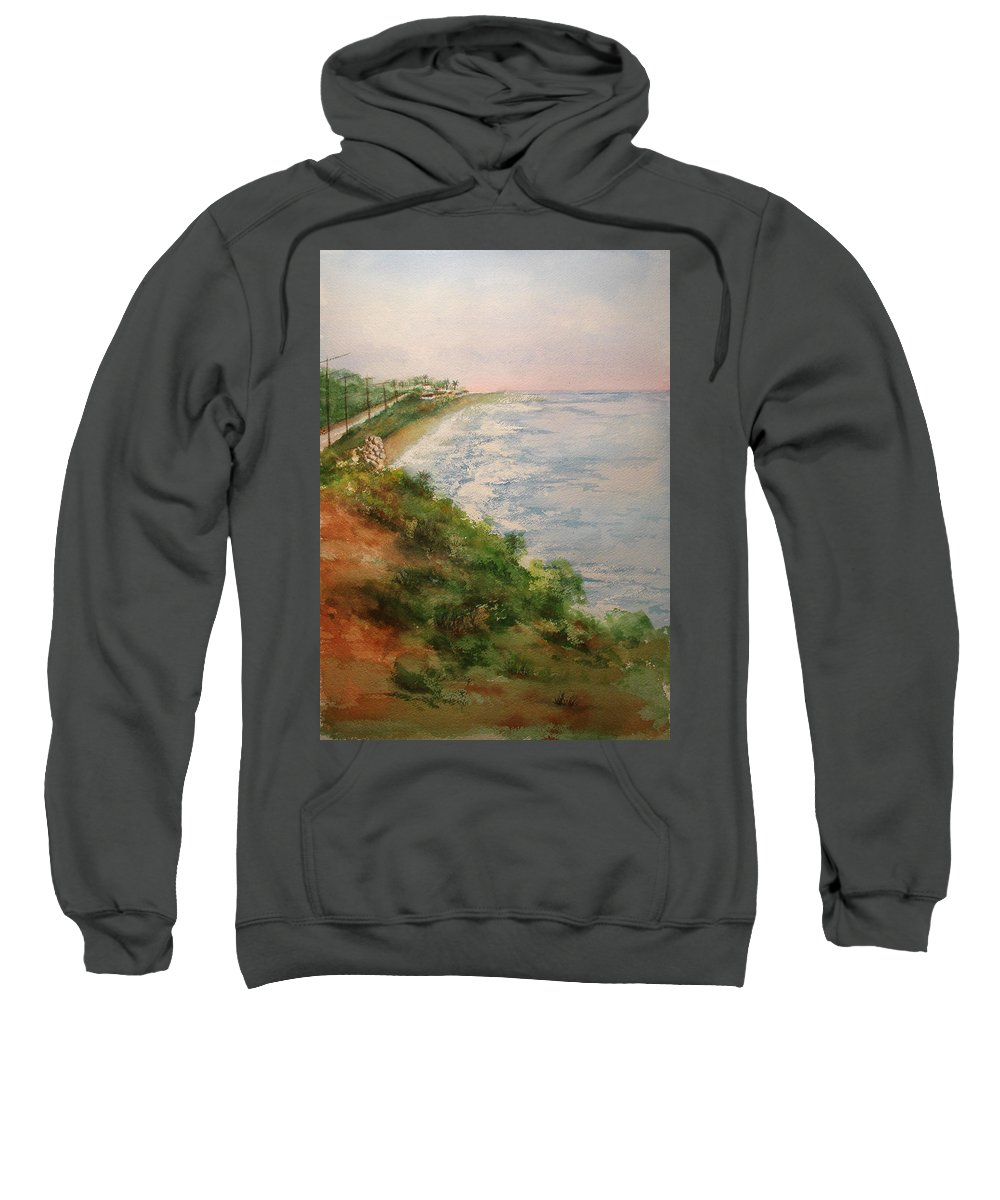 Landscape Sweatshirt featuring the painting Sea Of Dreams by Debbie Lewis